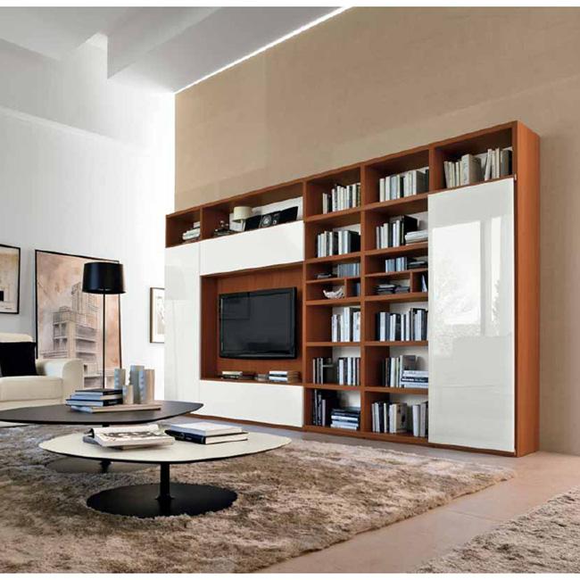 Parete attrezzata libreria arredo casa - Colori pareti ufficio ...